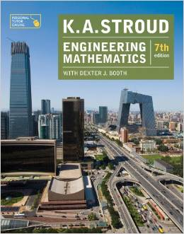 This is the K.A. Stroud book on engineering mathematics that I'm studying to catch up!